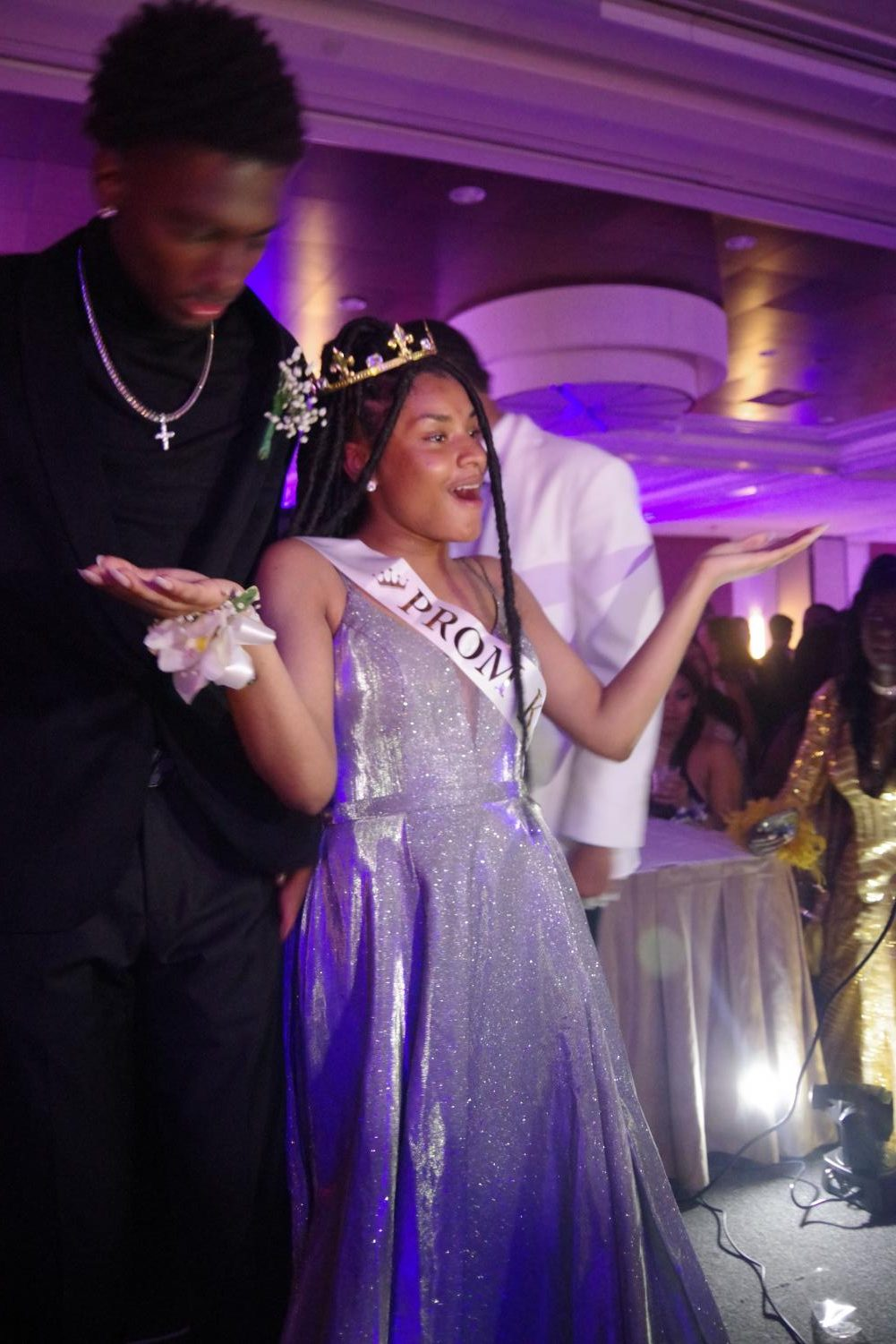 Senior Sean Fontno won Prom King and senior Nia Callender won Prom Queen.