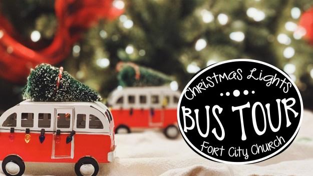 Christmas lights bus tour website