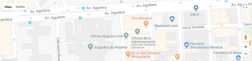 mapa registro civil alicante