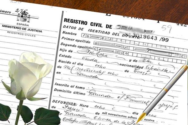 certificado de defuncin y sede electrnica