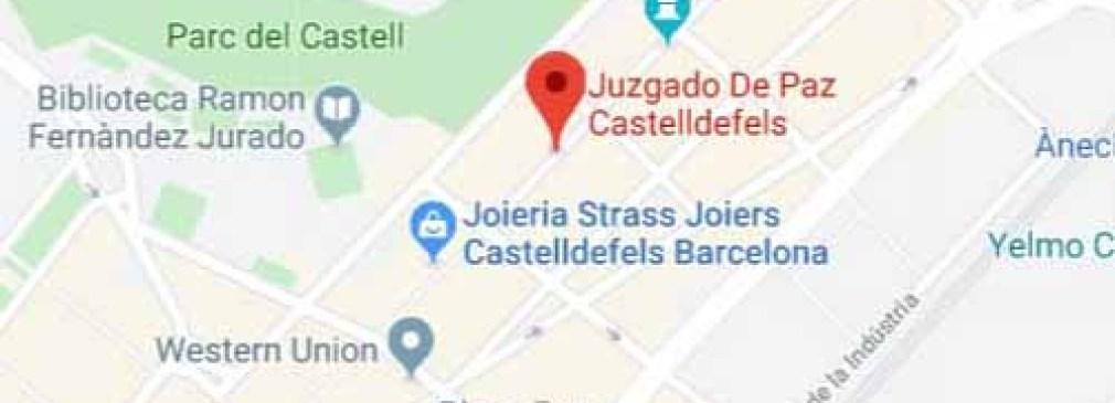 mapa registro civil casteldefels barcelona