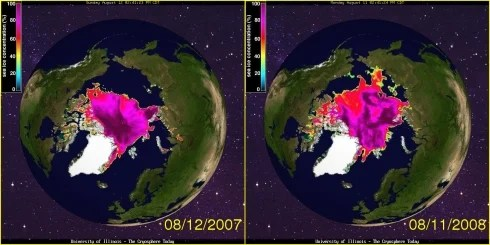Ice at the Arctic