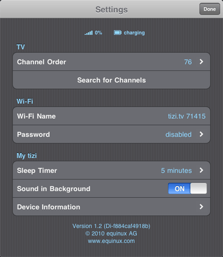 equinux tizi 13 Equinux Tizi iPhone TV tuner
