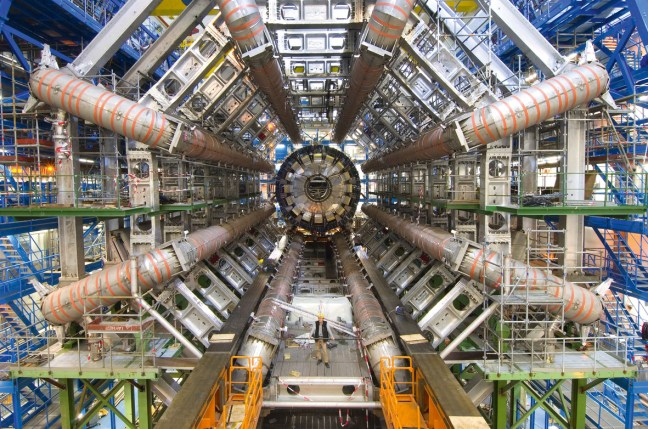 ATLAS (A Toroidal LHC Apparatus) is one of six detector experiments at the Large Hadron Collider (LHC) – image by Maximilien Brice CERN/Science photo library