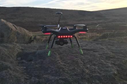 A 3D Robotics Solo drone seen in flight. Pic: Ian Hudson