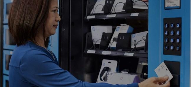 HP Tech Cafe Vending Machine