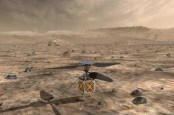 NASA depiction of the helicopter to travel on the Mars 2020 mission