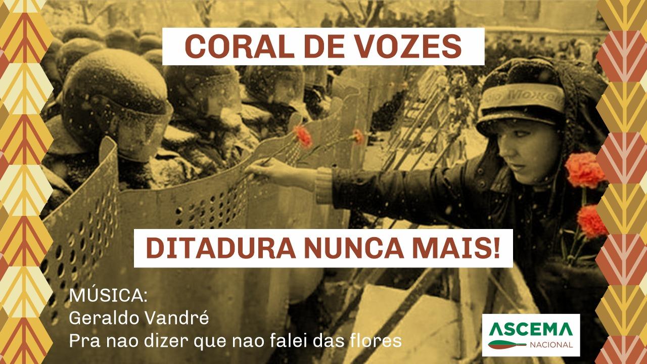 ASCEMA NACIONAL DIVULGA PROTESTO CONTRA OS DEMONTES DO GOVERNO BOLSONARO