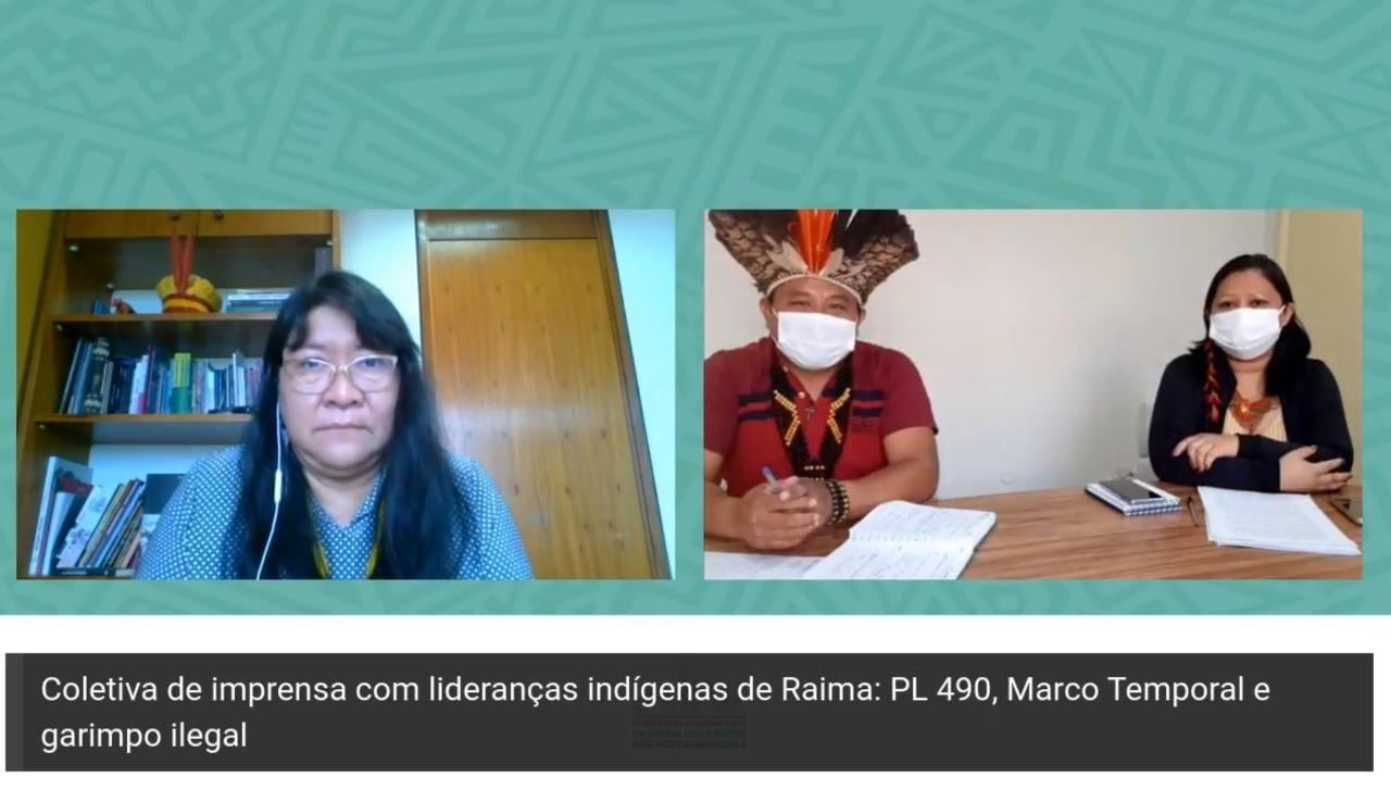 LIDERANÇAS INDÍGENAS PROTESTAM CONTRA O GARIMPO ILEGAL E MARCO TEMPORAL EM BRASÍLIA