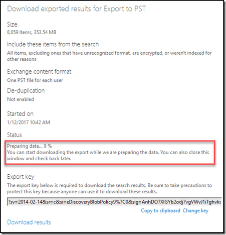 How to export to PST from Office 365
