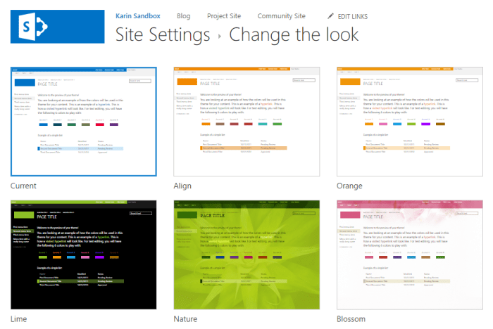 SharePoint Change The Look
