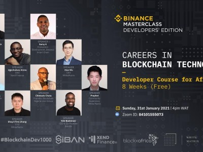 Binance to train 1000 African developers in Q1 2021 continuing its crypto education efforts