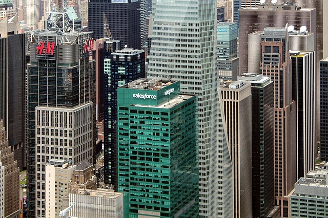 The Salesforce Office In New York. SalesForce Was Big Tech Subject To One Of The Largest Mergers