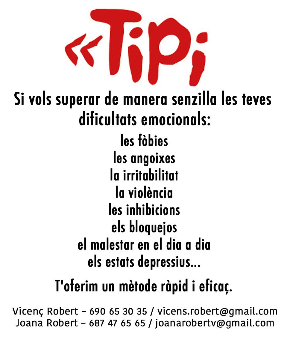 Cartel Publicitario TIPI de Vicenç Robert y Joana Robert