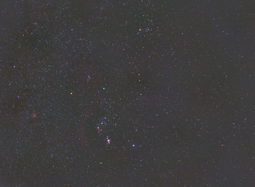 Wide field view of Orion and Taurus 2020-01-18