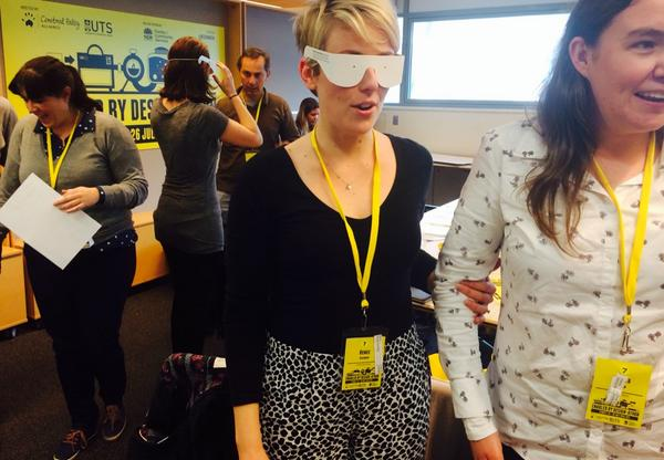 Experiencing vision impaired