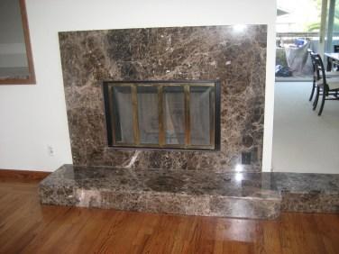 Emperador Dark Marble Fireplace