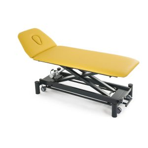 FISIOTECH Zefiro2 Couch – 2 Section Electrical/Hydraulic Couch w/ Trendelenburg Position, Adjustable Height for Post-Trauma Care Therapy, Rehab Therapy, Examination
