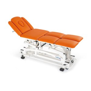 FISIOTECH Iride Couch – 8 Section Electrical/Hydraulic Couch w/ Adjustable Height – Armrest for Rehab Therapy /Massage/ Examination