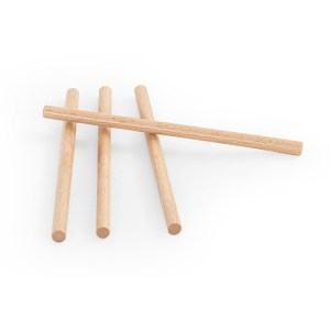 FISIOTECH Set of Wooden Sticks for Post Trauma Care Therapy for Parallel Bars (131290)