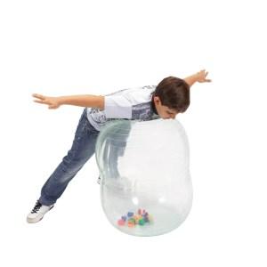 Gymnic Physio Activity Roll – Transparent, Rehabilitation Peanut Balls for Children w/ Tiny Colored Balls