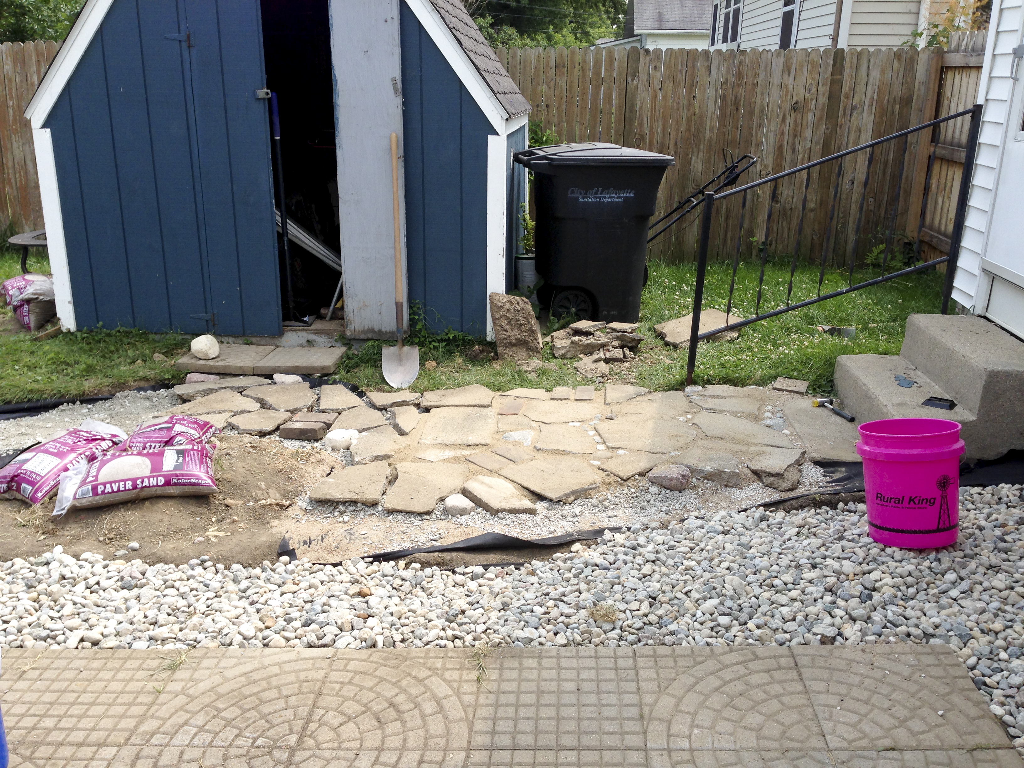 how to create a charming urbanite walkway for free almost