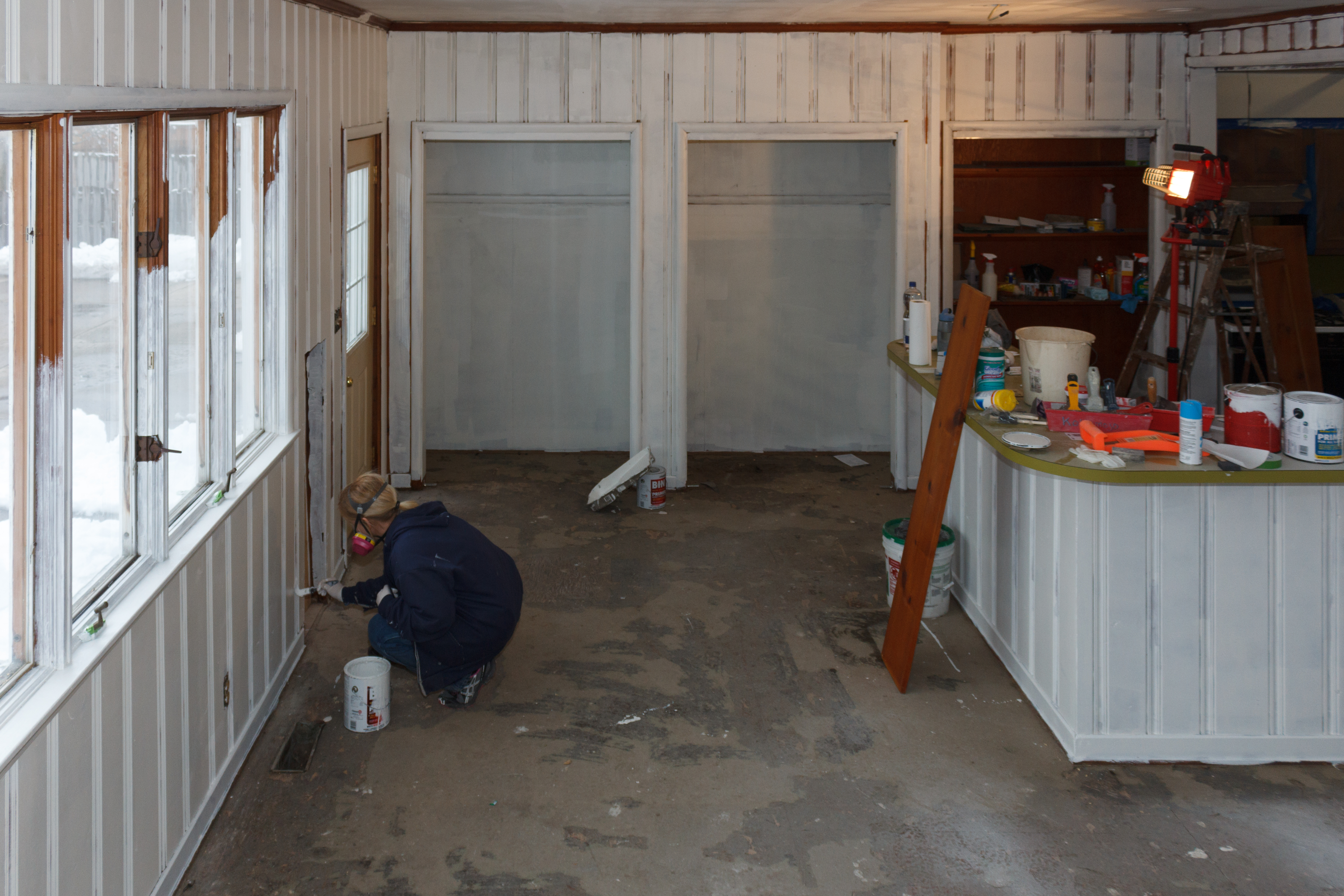 Painted Knotty Pine Painting Knotty Pine Walls Rehab Dorks