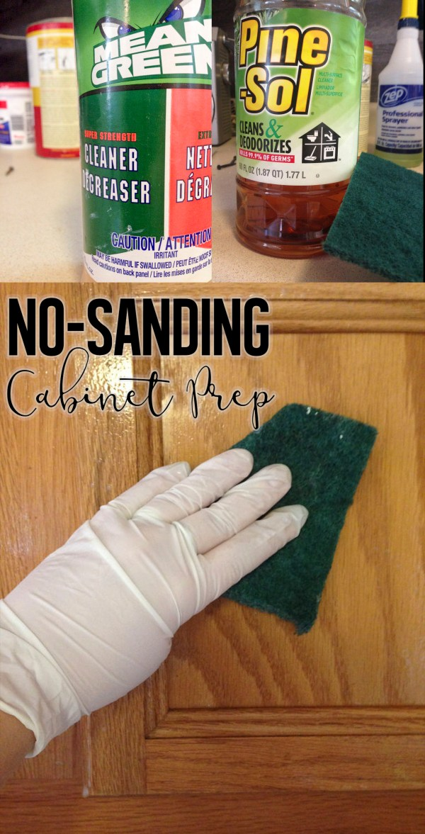 How to prep cabinets for painting without sanding or deglossing.