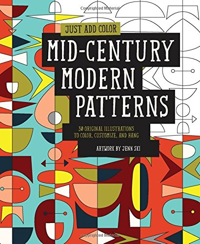 mid century modern coloring book.