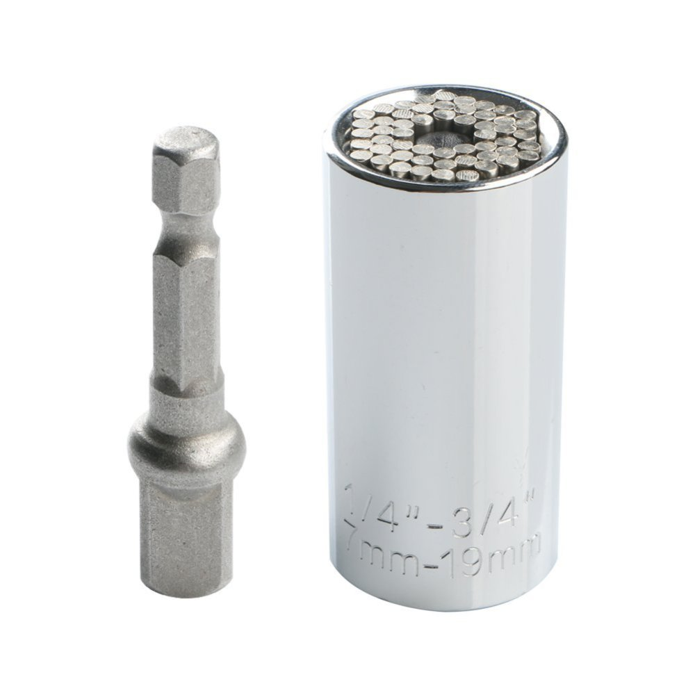 Universal socket with power drill adaptor gift for the holidays.