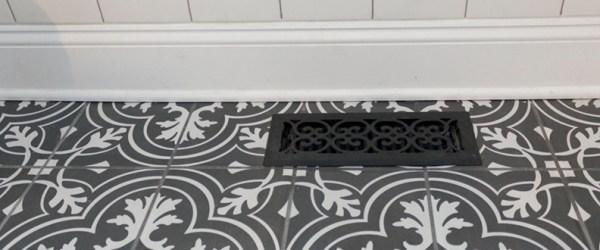 Little details in a 1920's modern Victorian bathroom design.