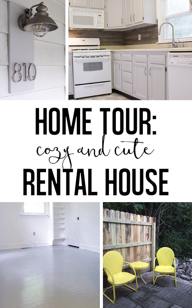 A small and cute rental house with neutral finishes.