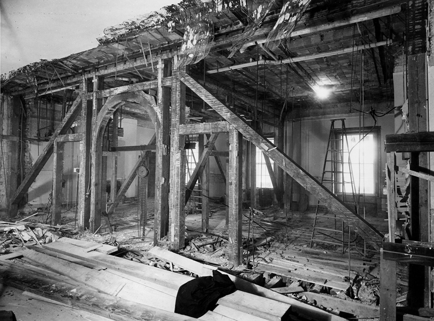You won't believe the amount of remodeling they did to the white house in 1950.