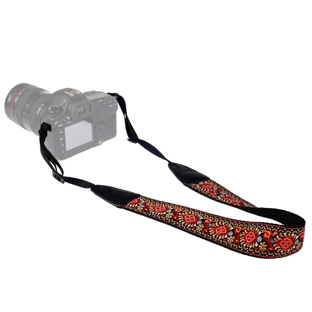Boho-chic camera strap.