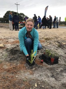 The first banksia planting by working group member Kim