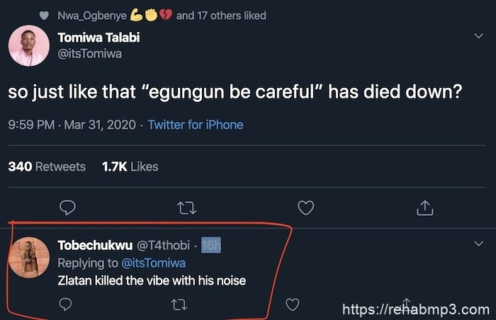 """DO YOU AGREE? Zlatan Killed """"Egungun Be Careful"""" With His Noise – Twitter Influencer Claim"""