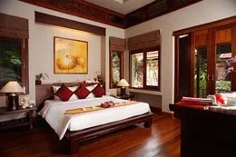 traditionally decorated guest room