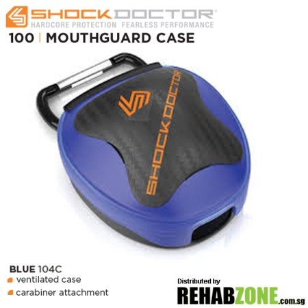 Shock Doctor Anti-Microbial Mouthguard Case Blue Rehabzone Singapore