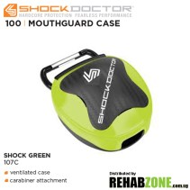 Shock Doctor Anti-Microbial Mouthguard Case Shock Green Features Rehabzone Singapore
