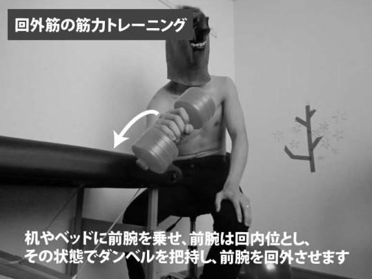 回外筋の筋力トレーニング
