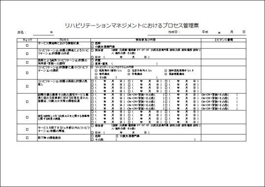 プロセス管理票