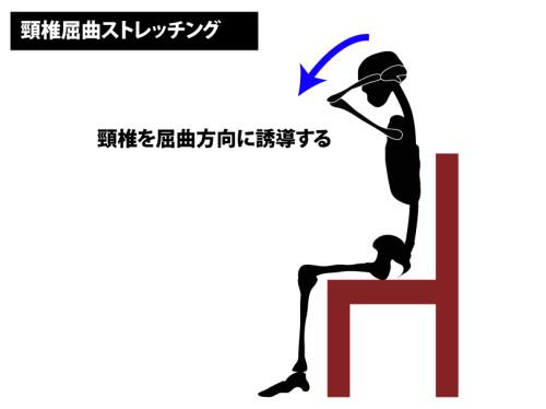 ストレッチ|頸椎屈曲