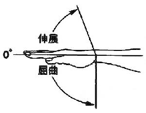 手関節掌屈・背屈の関節可動域(正常値)