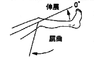 膝関節屈曲・伸展の関節可動域(参考値)