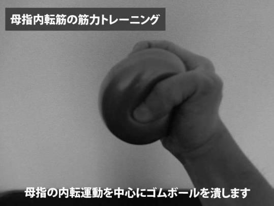 母指内転筋の筋力トレーニング
