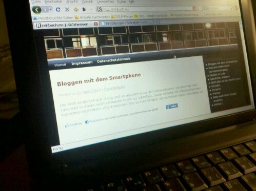 Screenshot bloggen mit dem Smartphone