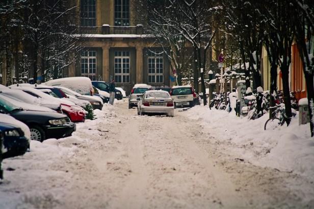 Schnee Chaos in der Korsörer Strasse