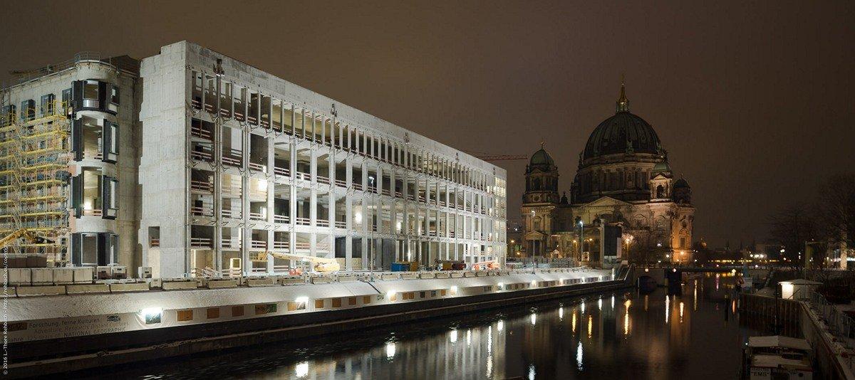 Das Humboldtforum (in Bau) und der Berliner Dom