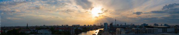 Berlin vom 9- Stock fotografiert