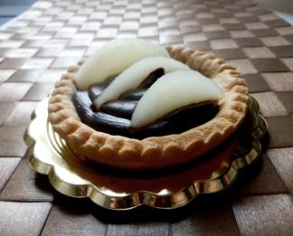 Crostata al cioccolato fondente e pere